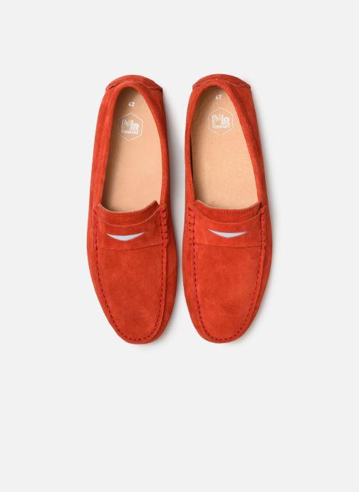 Mocassins Mr SARENZA Suttin Rouge vue portées chaussures