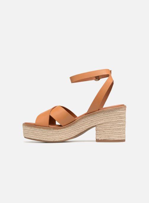Sandalen What For Claudette WF535 braun ansicht von vorne