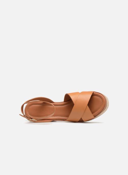 Sandalen What For Claudette WF535 braun ansicht von links