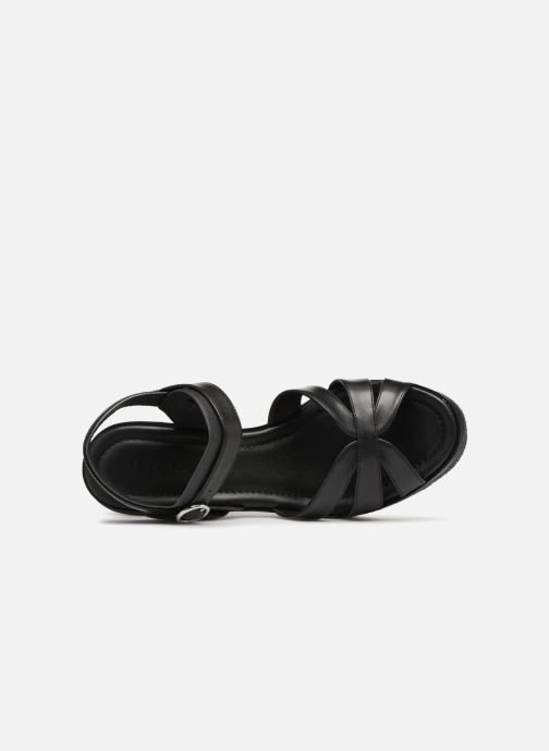 Sandals What For Claudette WF536 Black view from the left