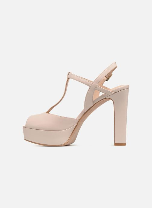 High heels What For Reddy Beige front view