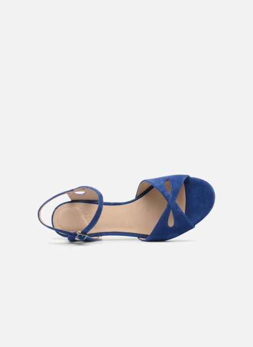 Zapatos de tacón What For Anne Azul vista lateral izquierda