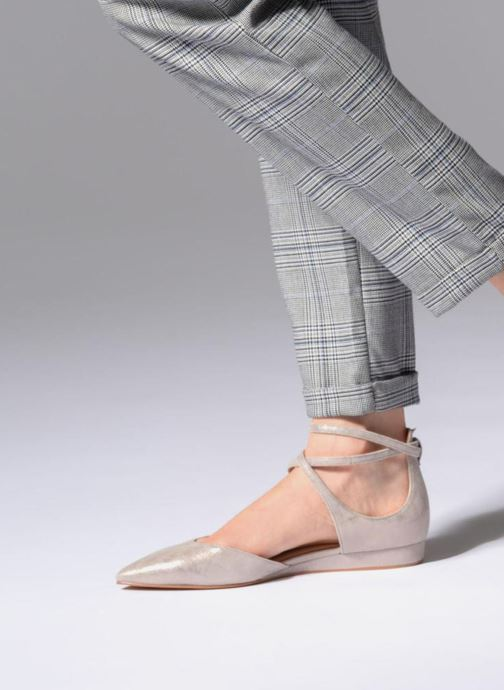 Ballet pumps What For Edith Beige view from underneath / model view