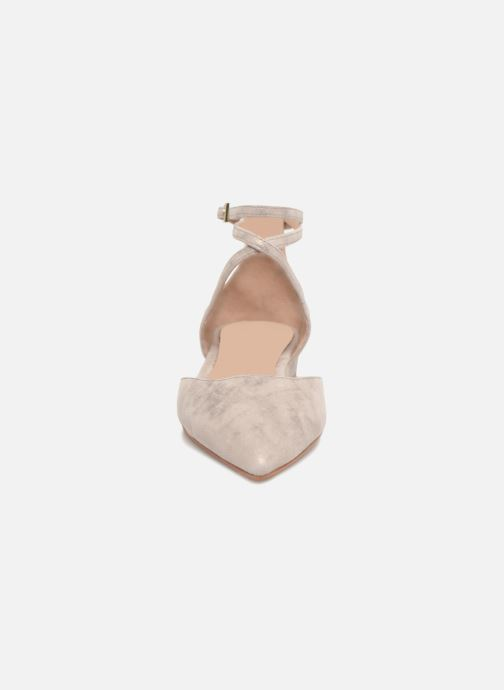 Ballerines What For Edith Beige vue portées chaussures