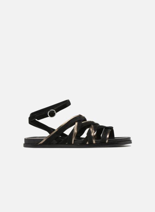 Sandalen What For Alizee Zwart achterkant