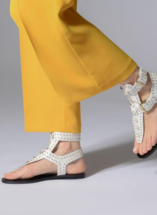 Sandales et nu-pieds What For Azur Blanc vue bas / vue portée sac