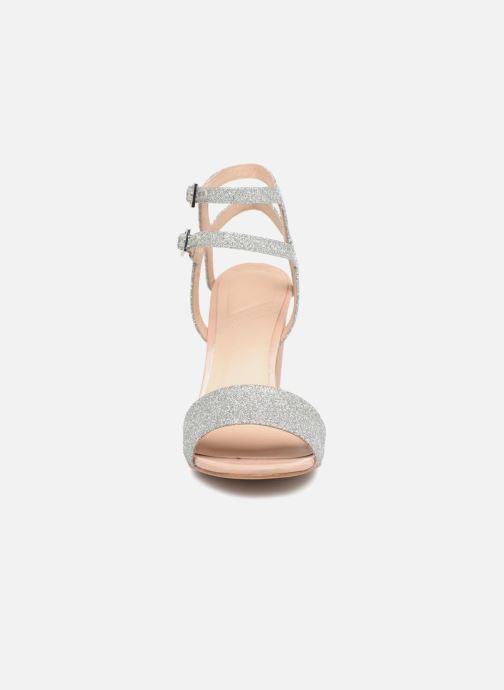 Sandalen What For Georgia silber schuhe getragen