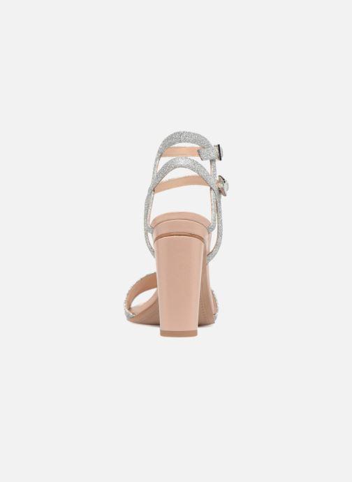 Sandalen What For Georgia silber ansicht von rechts