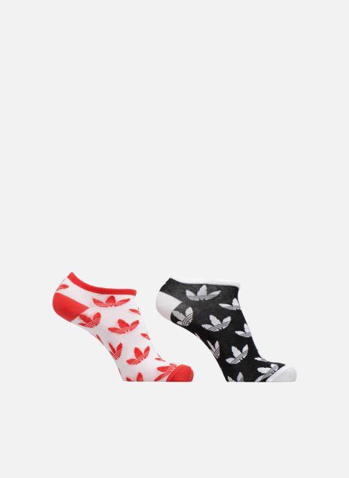 Chaussettes et collants Adidas Performance T LINER TRE 2PP Rouge vue détail  paire 12f278aa174c