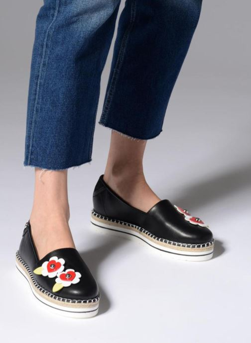 Espadrilles Love Moschino Love Summer Black view from underneath / model view