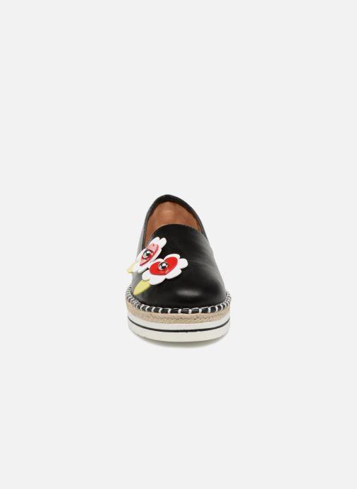 Espadrilles Love Moschino Love Summer Noir vue portées chaussures