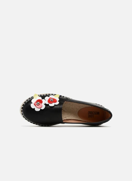 Espadrilles Love Moschino Love Summer Black view from the left