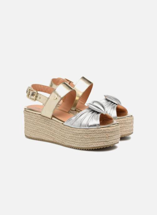 Sandales et nu-pieds Love Moschino Love Gold Or et bronze vue 3/4