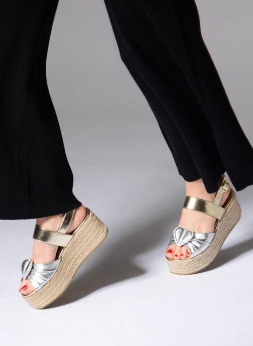 Sandales et nu-pieds Love Moschino Love Gold Or et bronze vue bas / vue portée sac