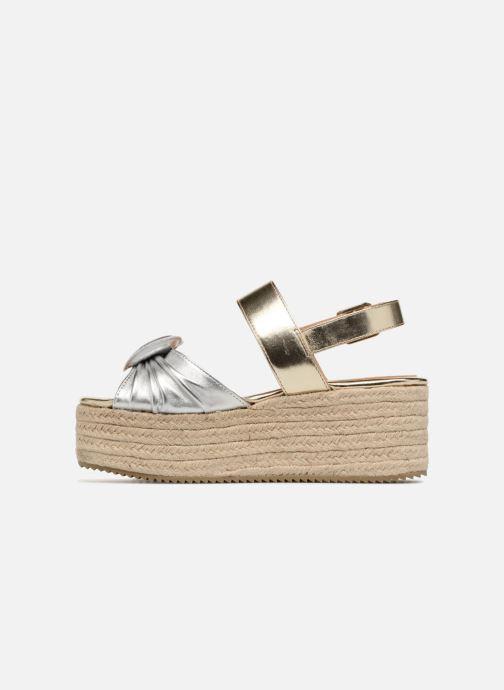 Sandales et nu-pieds Love Moschino Love Gold Or et bronze vue face
