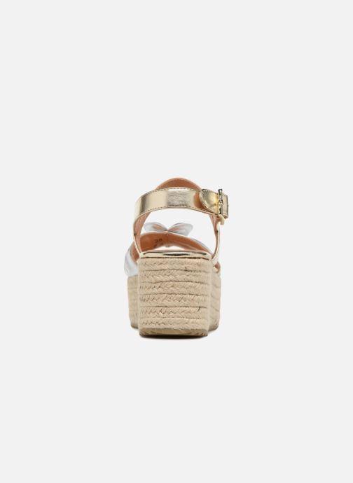 Sandales et nu-pieds Love Moschino Love Gold Or et bronze vue droite