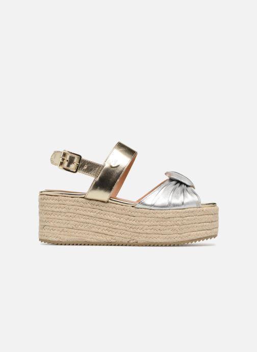 Sandales et nu-pieds Love Moschino Love Gold Or et bronze vue derrière