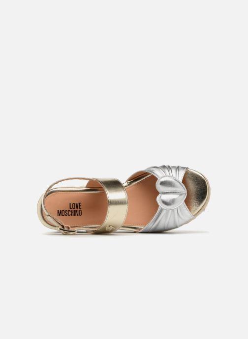 Sandales et nu-pieds Love Moschino Love Gold Or et bronze vue gauche