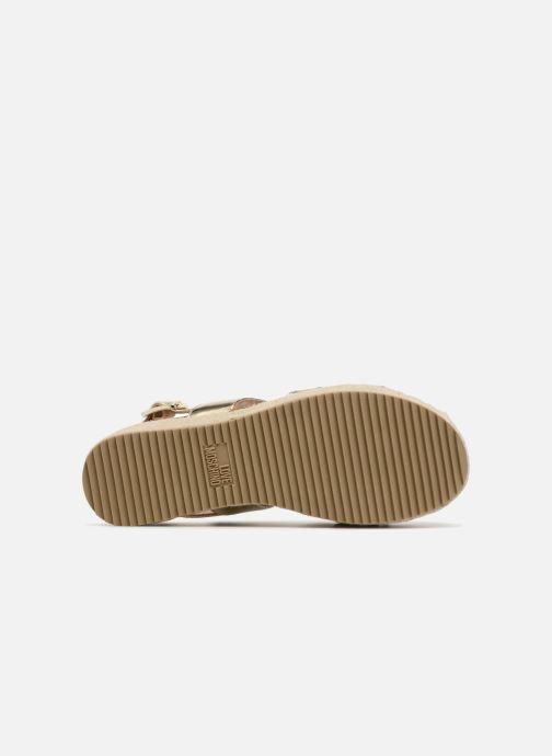 Sandales et nu-pieds Love Moschino Love Gold Or et bronze vue haut