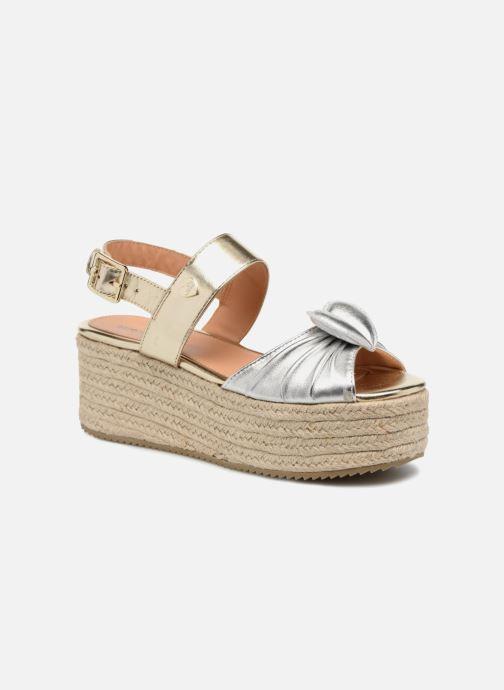 Sandales et nu-pieds Love Moschino Love Gold Or et bronze vue détail/paire