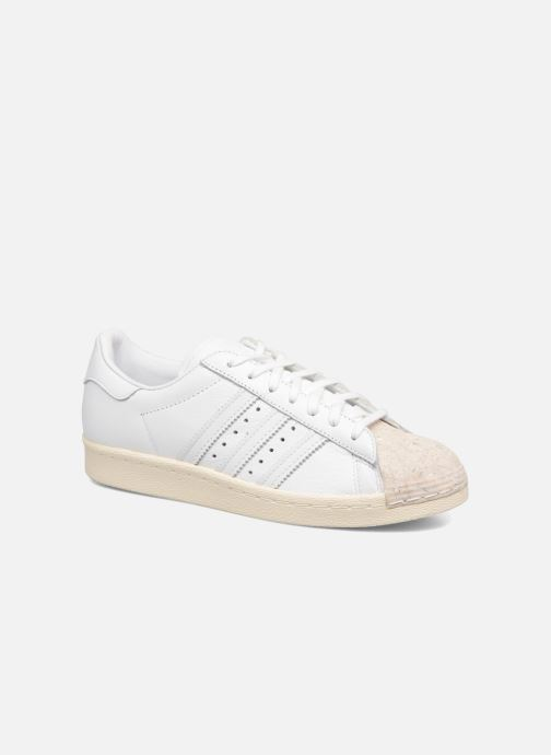 Baskets Adidas Originals SUPERSTAR 80s CORK Blanc vue détail/paire