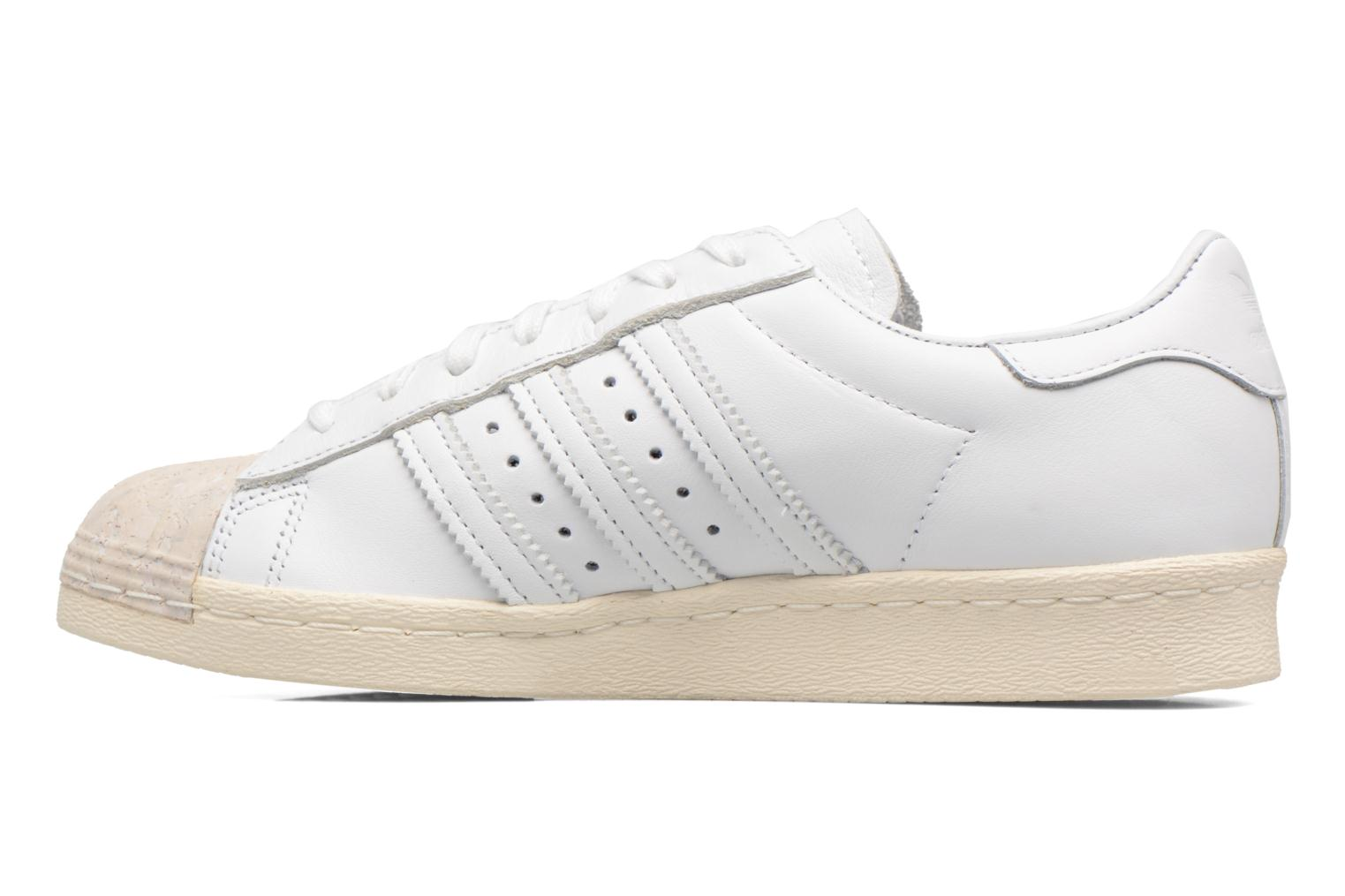 Baskets Adidas Originals SUPERSTAR 80s CORK Blanc vue face
