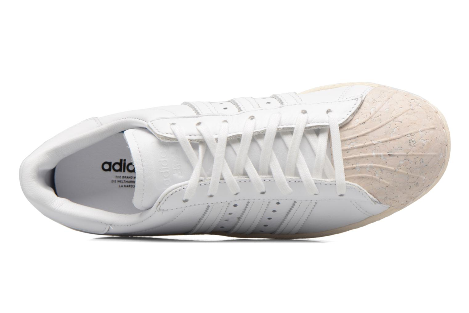 Baskets Adidas Originals SUPERSTAR 80s CORK Blanc vue gauche