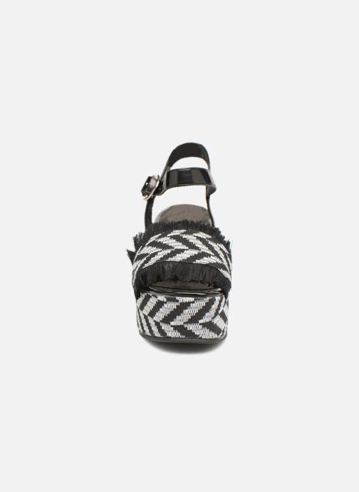 Sandales et nu-pieds Sixty Seven Damier black Noir vue portées chaussures
