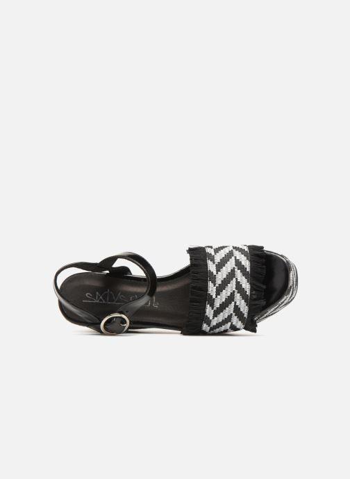 Sandales et nu-pieds Sixty Seven Damier black Noir vue gauche