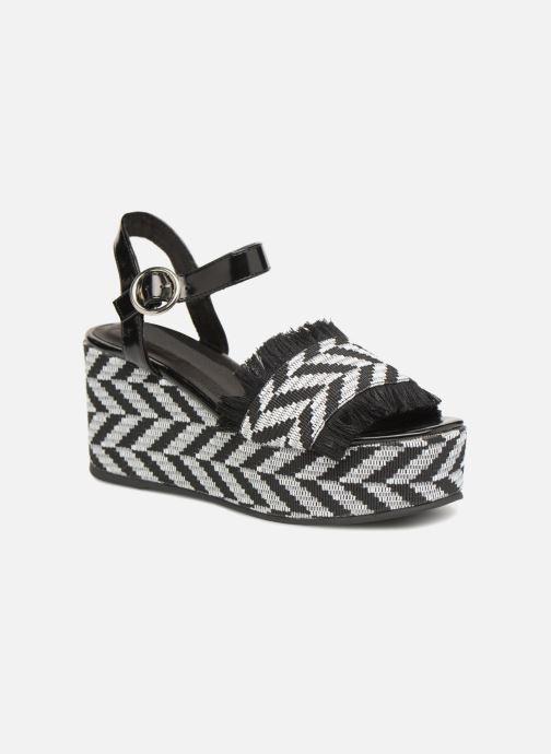 Sandales et nu-pieds Sixty Seven Damier black Noir vue détail/paire