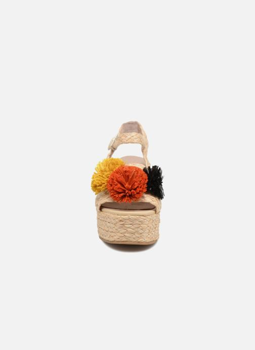 Sandalen Sixty Seven Pompom beige schuhe getragen