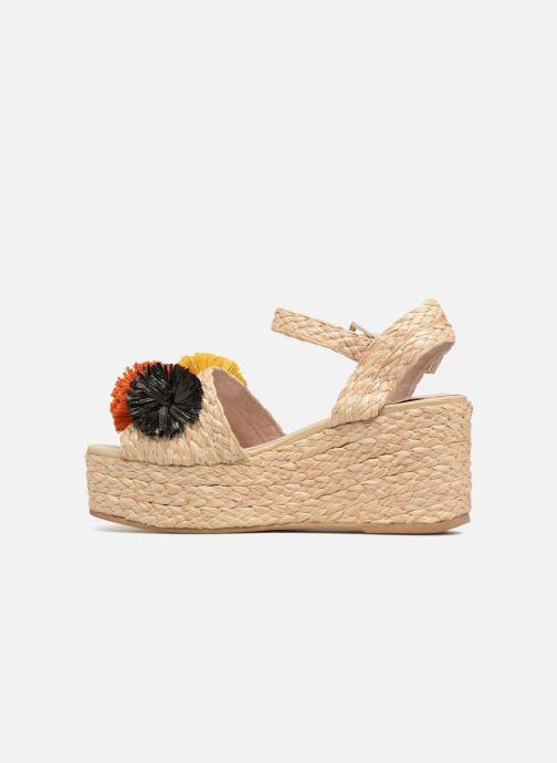 Sandalen Sixty Seven Pompom beige ansicht von vorne