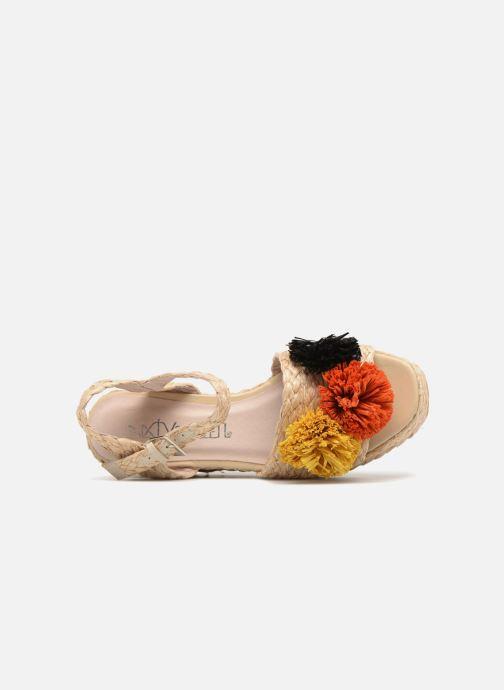 Sandalen Sixty Seven Pompom beige ansicht von links