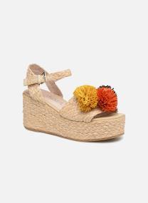Sandalen Damen Pompom