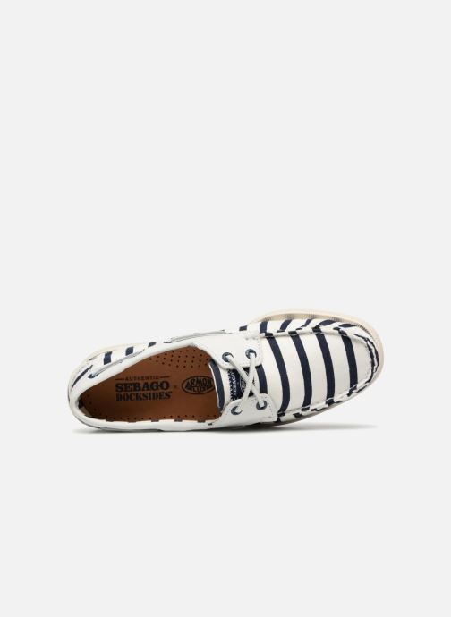 Lace-up shoes Sebago Docksides Sebago X Armorlux M White view from the left