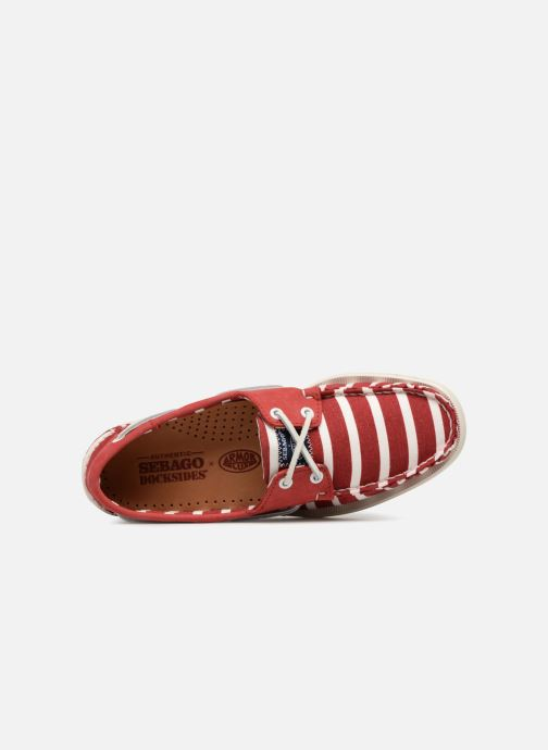 Lace-up shoes Sebago Docksides Sebago X Armorlux M Red view from the left