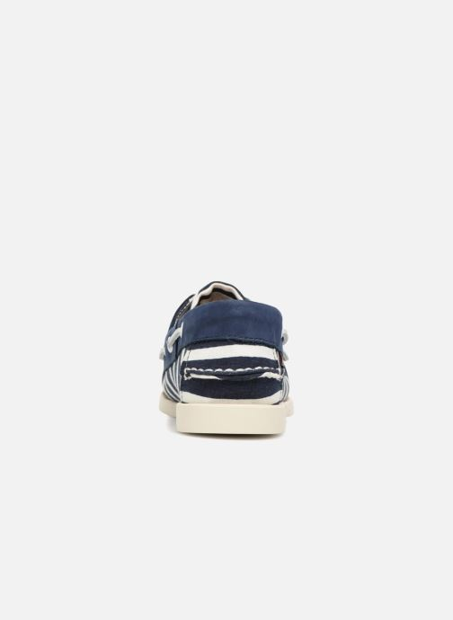 Lace-up shoes Sebago Docksides Sebago X Armorlux Blue view from the right