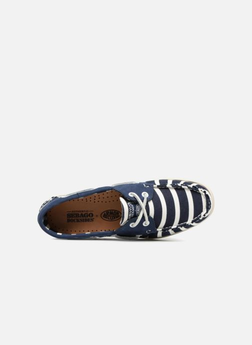 Lace-up shoes Sebago Docksides Sebago X Armorlux Blue view from the left