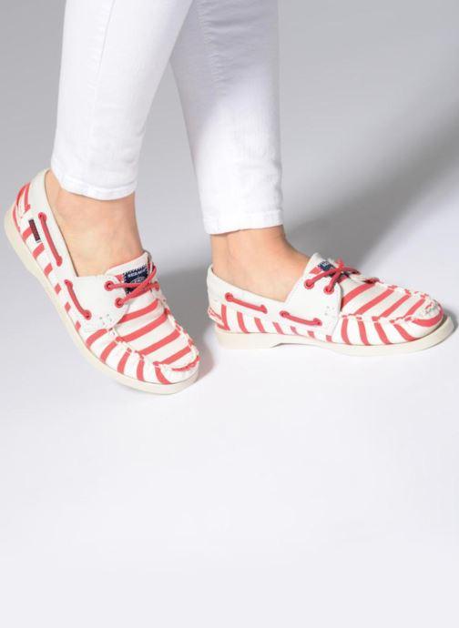 Chaussures à lacets Sebago Docksides Sebago X Armorlux Rose vue bas / vue portée sac