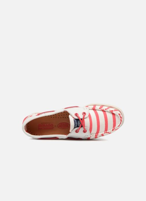 Lace-up shoes Sebago Docksides Sebago X Armorlux Pink view from the left