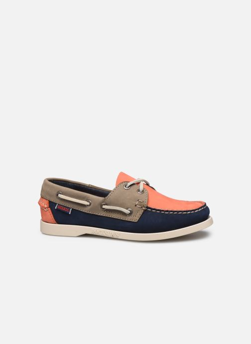 Lace-up shoes Sebago Spinnaker1 Blue back view