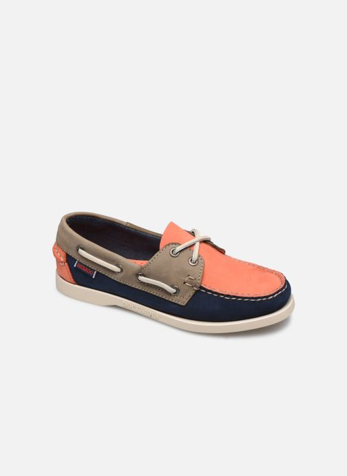 Lace-up shoes Sebago Spinnaker1 Blue detailed view/ Pair view