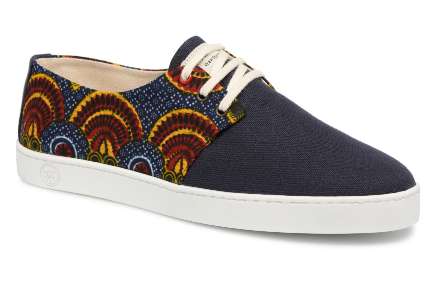 Baskets Panafrica Alizé Canvas Multicolore vue détail/paire