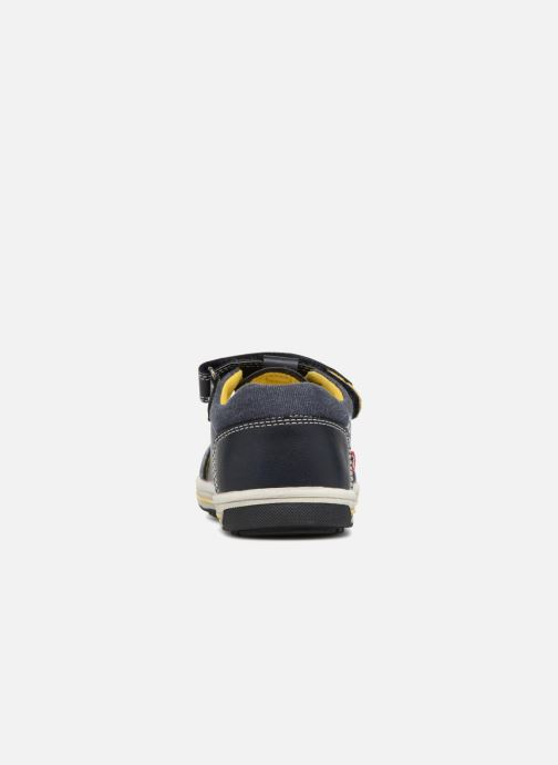 Sandales et nu-pieds NA! Alvino Bleu vue droite