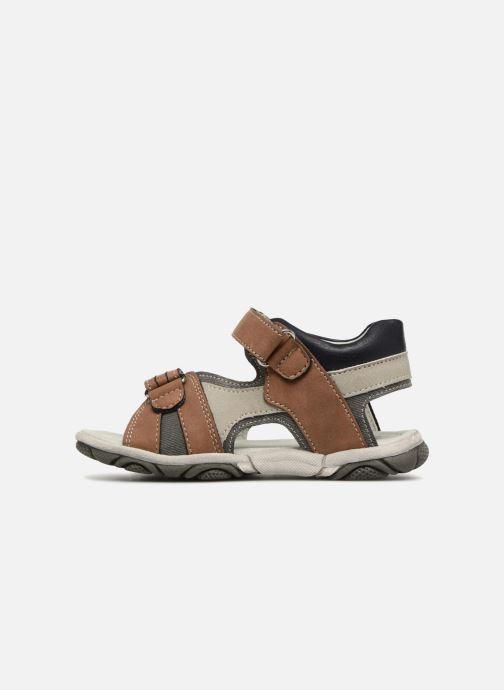 Sandales et nu-pieds NA! Aily Marron vue face
