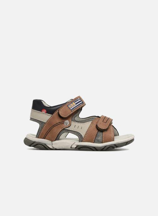 Sandales et nu-pieds NA! Aily Marron vue derrière