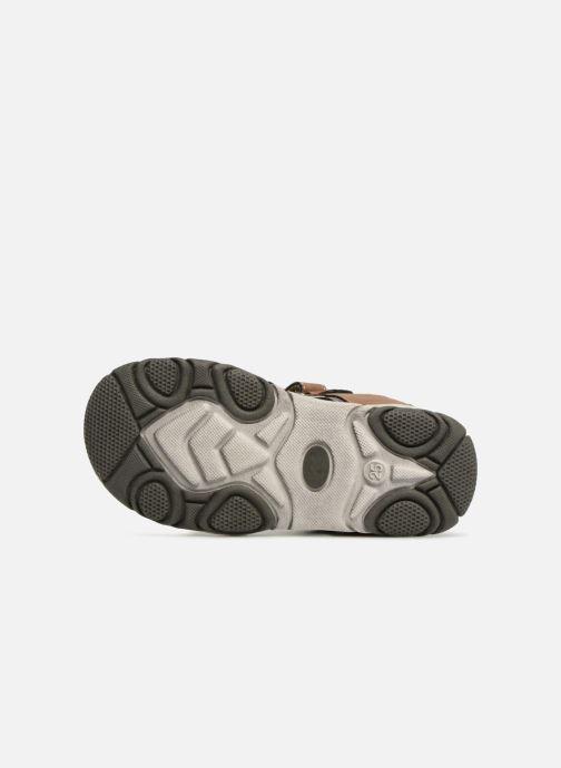 Sandales et nu-pieds NA! Aily Marron vue haut