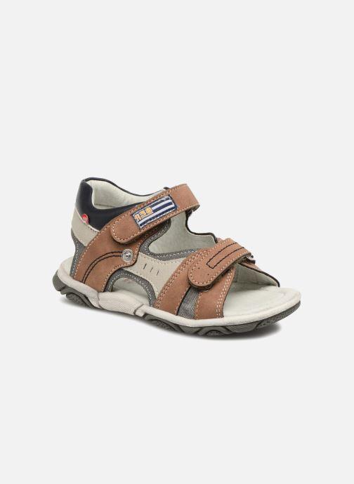 Sandales et nu-pieds NA! Aily Marron vue détail/paire