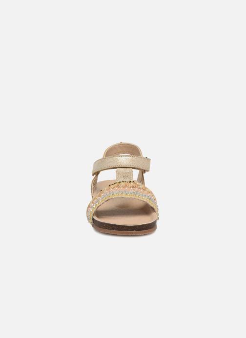 Sandales et nu-pieds NA! Alyssa Or et bronze vue portées chaussures