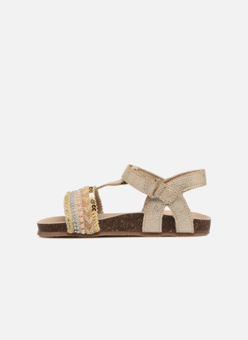 Sandales et nu-pieds NA! Alyssa Or et bronze vue face